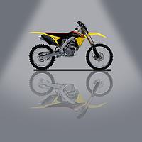 Buy canvas prints of Suzuki RM-Z 450 Grey Spotlight by Stephen Smith Galleries