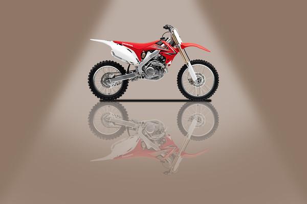 Honda CRF250L Beige Spotlight Canvas print by Stephen Smith Galleries