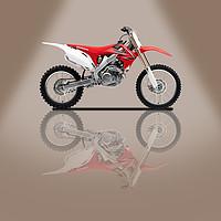Buy canvas prints of Honda CRF250L Beige Spotlight by Stephen Smith Galleries