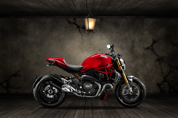 Ducati Monster 696 Old Room Canvas print by Stephen Smith Galleries