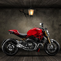 Buy canvas prints of Ducati Monster 696 Old Room by Stephen Smith Galleries