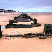 Buy canvas prints of Steetley Pier Hartlepool by Stephen Smith Galleries