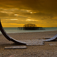 Buy canvas prints of The West Pier by Stephen Smith Galleries