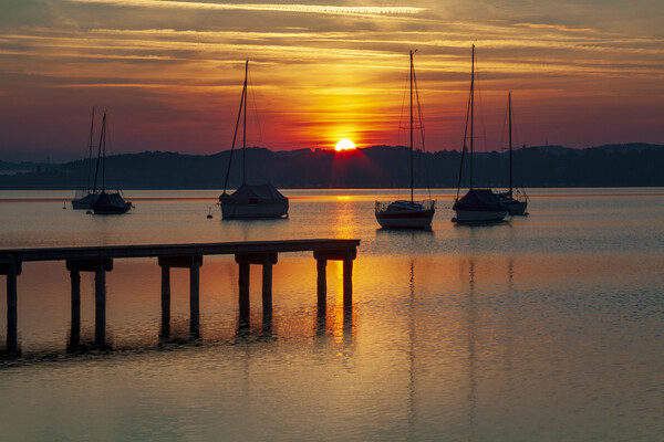 Ammersee, Bavaria, Germany Canvas Print by Stephen Smith