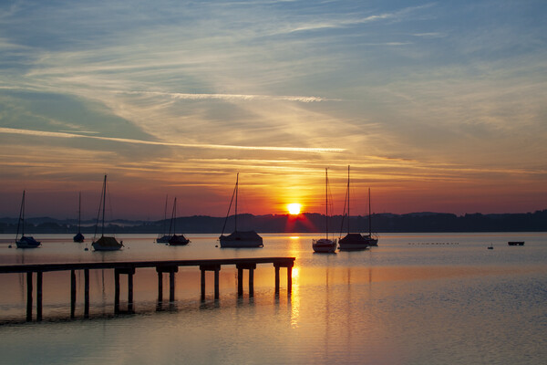Ammersee, Germany Canvas Print by Stephen Smith