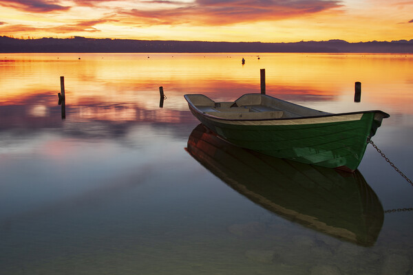 Ammersee Dawn Canvas Print by Stephen Smith