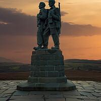 Buy canvas prints of Commando Memorial by Stephen Smith