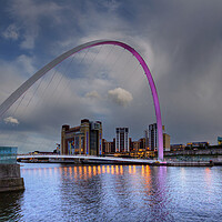 Buy canvas prints of Millennium Bridge Gateshead by Stephen Smith