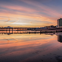 Buy canvas prints of Herne Bay Seafront sunrise by Lytton Images