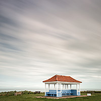 Buy canvas prints of Kentish Beach Shelter by Lytton Images