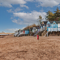 Buy canvas prints of wells next the sea beach huts, by kevin snelling