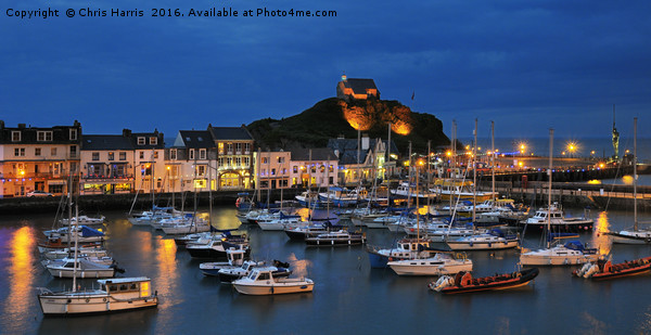 Ilfracombe by night Canvas print by Chris Harris