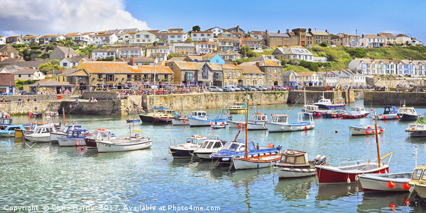 Porthleven summer Canvas print by Chris Harris