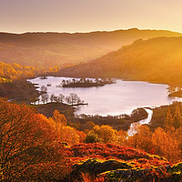 Buy canvas prints of Rydal Water at sunrise by Chris Harris