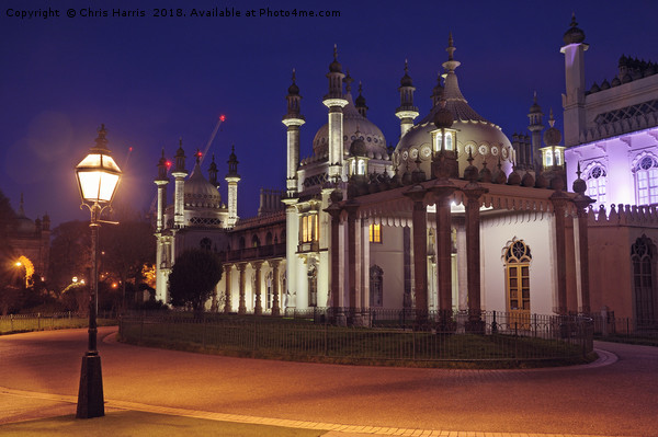 Brighton Royal Pavilion at dusk Canvas print by Chris Harris