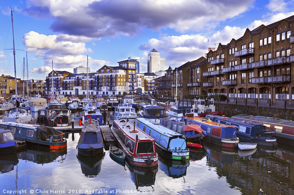 Limehouse Basin, East London Canvas print by Chris Harris