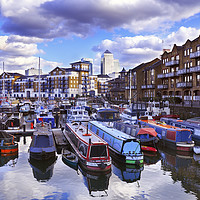 Buy canvas prints of Limehouse Basin, East London by Chris Harris