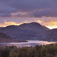 Buy canvas prints of Ullswater at sunset by Chris Harris