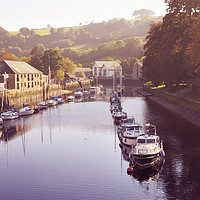 Buy canvas prints of Boats on the River Dart at Totnes by Chris Harris