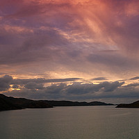 Buy canvas prints of Loch Cairnbawn sunset by Tom Dolezal