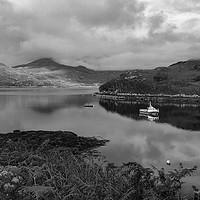 Buy canvas prints of Loch Glendhu fishing boats by Tom Dolezal