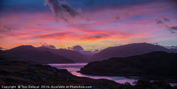 Highland dawn Canvas print by Tom Dolezal