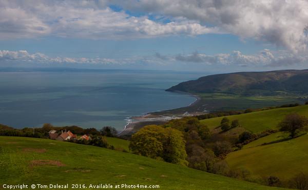 North Devon coastline scene Canvas Print by Tom Dolezal