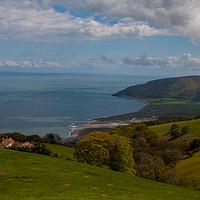 Buy canvas prints of North Devon coastline scene by Tom Dolezal