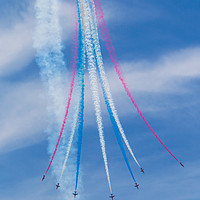 Buy canvas prints of Red Arrows display by Tom Dolezal