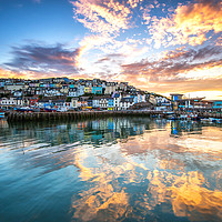 Buy canvas prints of Golden Harbour by Nigel Martin
