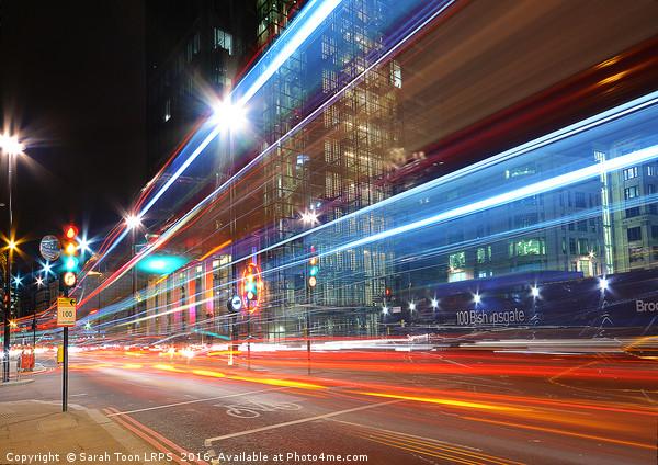 London Rush Hour Canvas print by Sarah Toon LRPS