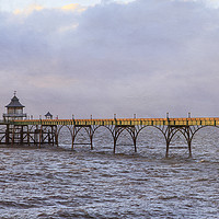 Buy canvas prints of Clevedon Pier by Jackie Davies