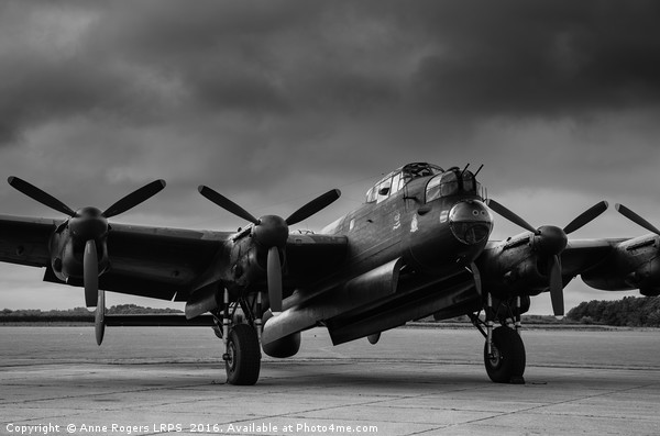 Avro Lancaster NX611 Just Jane  Canvas print by Anne Rogers LRPS