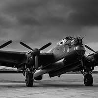 Buy canvas prints of Avro Lancaster NX611 Just Jane  by Anne Rogers LRPS