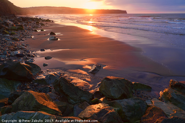 Evening Light at Whitby Canvas print by Peter Zabulis