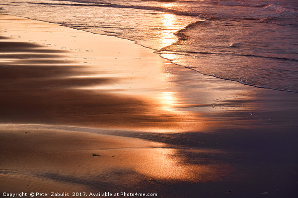 Sunset Reflection Canvas print by Peter Zabulis