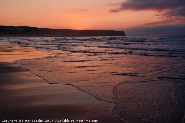 Approaching sunset Canvas print by Peter Zabulis