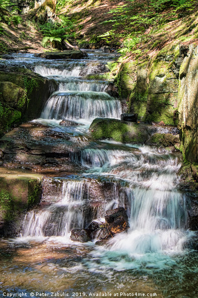 Lumsdale Falls Canvas Print by Peter Zabulis