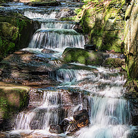 Buy canvas prints of Lumsdale Falls by Peter Zabulis
