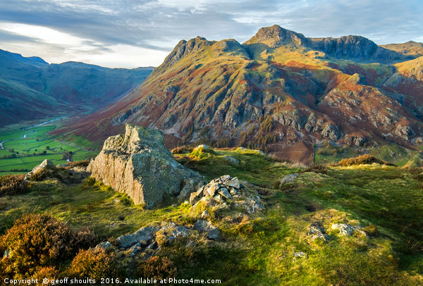 The Langdale Pikes, Lake District Canvas print by geoff shoults