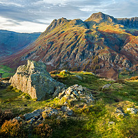 Buy canvas prints of The Langdale Pikes, Lake District by geoff shoults