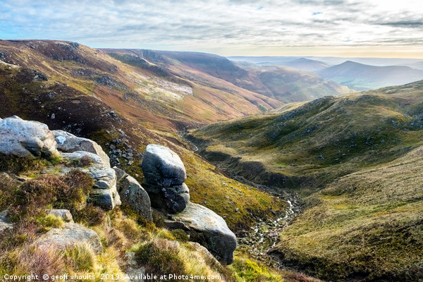 Edale from Kinder Canvas print by geoff shoults