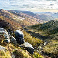 Buy canvas prints of Edale from Kinder by geoff shoults