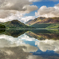 Buy canvas prints of Mountain Reflections by Paul Bullen