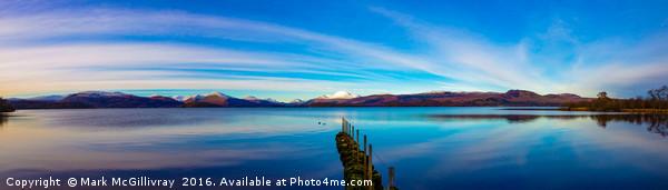 Winter Sunset on Loch Lomond Canvas print by Mark McGillivray