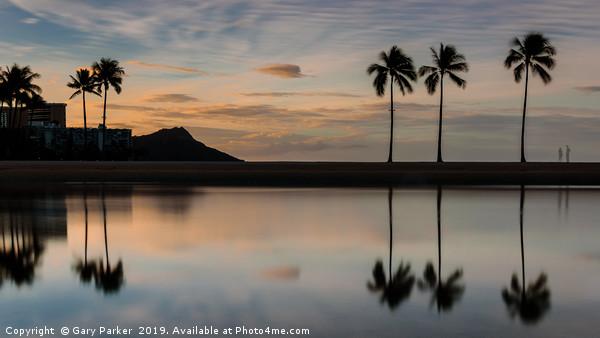 Hawaiian Silhouette Framed Print by Gary Parker