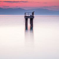 Buy canvas prints of Solitary structure in a calm sea by Gary Parker