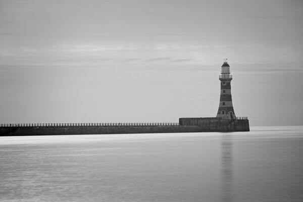 Roker Pier and Lighthouse Print by Rob Cole