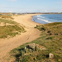 Buy canvas prints of Sandhaven Beach, South Shields by Rob Cole