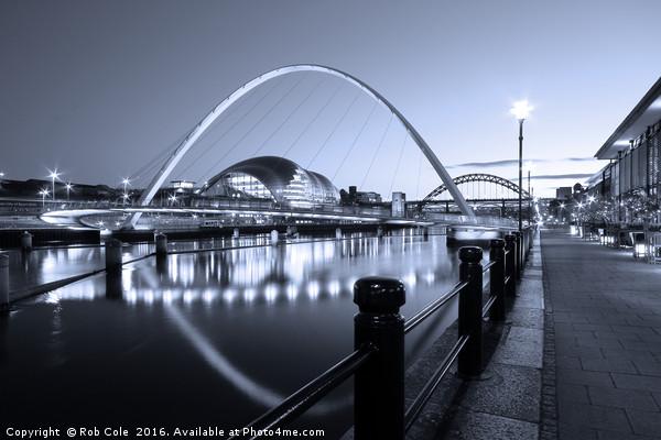 Newcastle-Gateshead Millennium Bridge, Tyne and We Canvas Print by Rob Cole